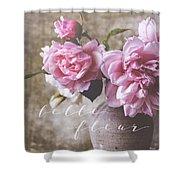Belle Fleur Pink Peonies Shower Curtain