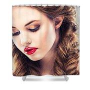 Belle Silk Shower Curtain