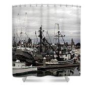 Bellingham Bay Ship Yard Shower Curtain