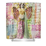 Belly Dancer Shower Curtain