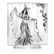 Belly Dancer With Veil. Friend Of Ameynra Shower Curtain