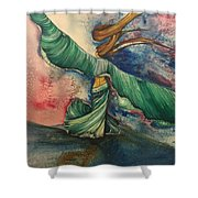 Belly Dancer With Wings  Shower Curtain