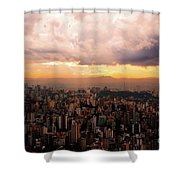 Belo Horizonte - The Cityscape From Above Shower Curtain
