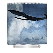 Below Radar Shower Curtain