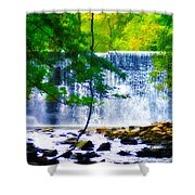 Below The Waterfall Shower Curtain