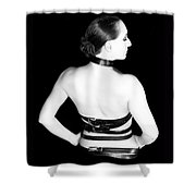 Belted 2 - Self Portrait Shower Curtain