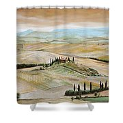 Belvedere - Tuscany Shower Curtain by Trevor Neal