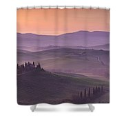 Belvedere And Tuscan Countryside Shower Curtain
