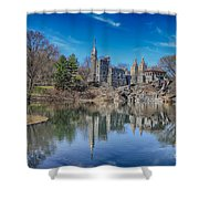 Belvedere Castle And Turtle Pond Shower Curtain
