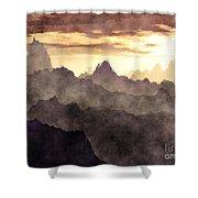 Belzoni Mountain Range Shower Curtain