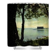 Bembridge Lifeboat Station  Shower Curtain