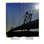 Ben Franklin Bridge 2 Shower Curtain