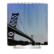 Ben Franklin Bridge Shower Curtain
