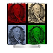 Ben Franklin In Colors Shower Curtain