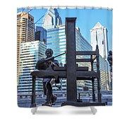 Ben Franklin Printing Press - Philadelphia Shower Curtain