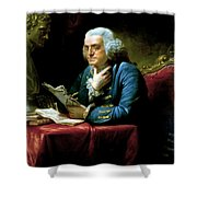 Ben Franklin Shower Curtain