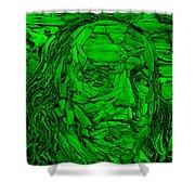 Ben In Wood Green Shower Curtain