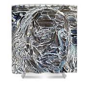 Ben In Wood Negative Art Shower Curtain