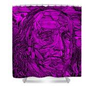 Ben In Wood Purple Shower Curtain