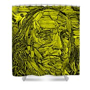 Ben In Wood Yellow Shower Curtain