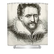 Ben Jonson 1572 To 1637. English Shower Curtain