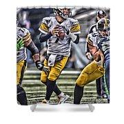 Ben Roethlisberger Pittsburgh Steelers Art Shower Curtain