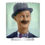 Ben Turpin, Vintage Comedy Actor Shower Curtain