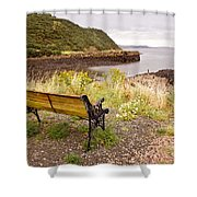Bench At The Bay Shower Curtain