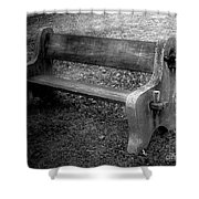 Bench By The Barn Shower Curtain