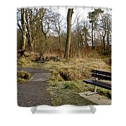 Bench In Polkemmet Park. Shower Curtain