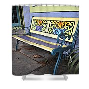 Bench Of Color Shower Curtain