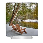 Bench Of Solitude Shower Curtain
