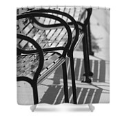 Bench Shadows Shower Curtain