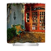 Benched In Fairhope Alabama Shower Curtain