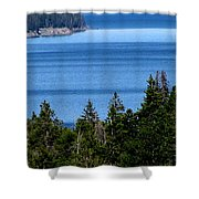 Bend In Columbia Shower Curtain