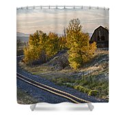 Bend In The Tracks Shower Curtain