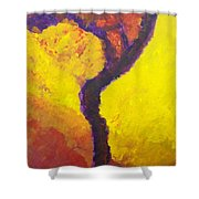 Bendy Tree Shower Curtain