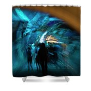 Beneath And Beyond Shower Curtain