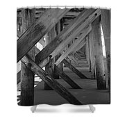 Beneath The Docks Day Shower Curtain