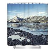Beneath The Frozen Sky Shower Curtain