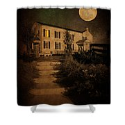 Beneath The Perigree Moon Shower Curtain
