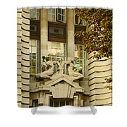 Benevolence And Humanity At County Hall Shower Curtain