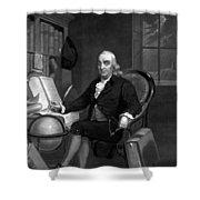 Benjamin Franklin -- The Scientist Shower Curtain
