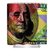 Benjamin Franklin - $100 Bill Shower Curtain