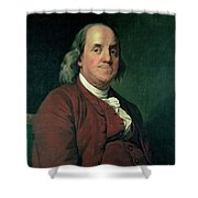 Benjamin Franklin Shower Curtain by Joseph Wright of Derby