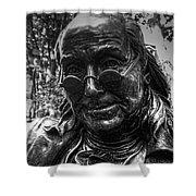 Benjamin Franklin Memorial Shower Curtain