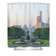 Benjamin Franklin Parkway - Philly Shower Curtain