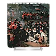 Benjamin West Shower Curtain by The Death of Nelson