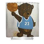 Benny Bear Basketball  Shower Curtain