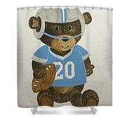Benny Bear Football Shower Curtain